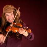 Pirat spielen Violine — Stockfoto