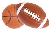 Football and Basketball Isolated — Stock Photo
