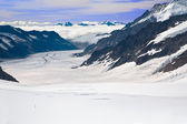 Aletsch Glacier Switzerland — Stock Photo
