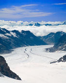 Aletsch Glacier in the Alps, Switzerland — Stock Photo