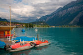 Pedal Boats on Lake Brienz, Switzerland — Stock Photo