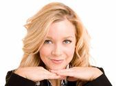 Blond Smiling Woman Posing — Stock Photo