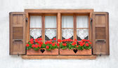 Old European Wooden Windows — Stock Photo