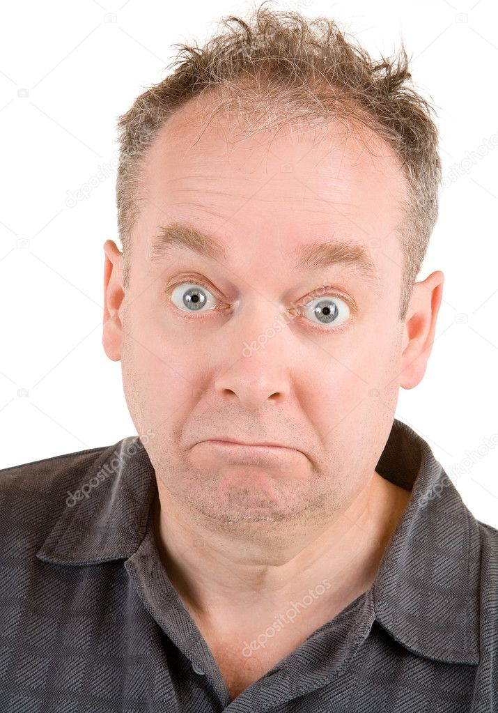 A man appeared to be confused about something.  Stock Photo #2371415