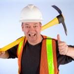 Gelukkig bouwvakker — Stockfoto