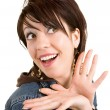 Woman Surprised about Something — Stock Photo #2387823