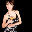 Attractive Woman Holding a Martini — Stock Photo #2387872