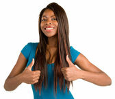Two Thumbs Up — Stock Photo