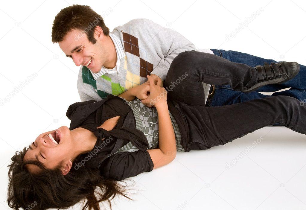 Girls tickling