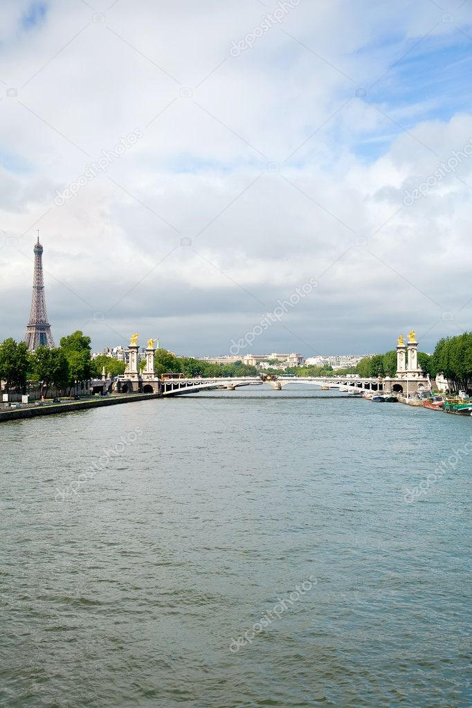 A view of Seine River in Paris, France  Stock Photo #2387964