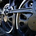 Big Train Wheels — Stock Photo
