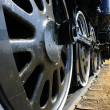 Big Locomotive Wheels — Stock Photo