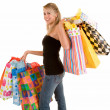 Young Woman on a Shopping Spree — Stock Photo