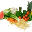 Stock Photo: Veggies and Fruits Arrangement