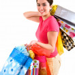 Royalty-Free Stock Photo: Young Woman on a Shopping Spree