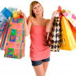Young Woman on a Shopping Spree — Stock fotografie