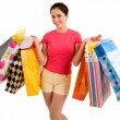 Young Woman on a Shopping Spree — Stock Photo #2395370