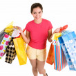 Young Woman on a Shopping Spree — Stock Photo #2395379