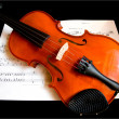 Violin on a Music Sheet — Stock Photo