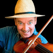 fiddle-speler — Stockfoto