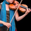 Playing the Violin - Stock Photo