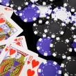 Winning With a Royal Flush — Stock Photo