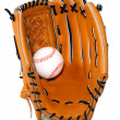 Baseball Glove and Ball Isolated — Stock Photo