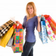 Young Woman on a Shopping Spree — Stock Photo #2399796