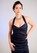 Lady of Asian Descent in an Evening Gown — Stock Photo