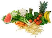 Veggies and Fruits Arrangement — Stock Photo