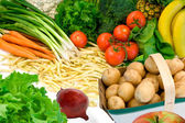 Vegetables and Some Fruits — Stock Photo
