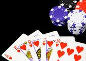 扑克 — 图库照片