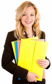Beautiful Smiling Blonde Businesswoman — Stock Photo