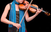 Playing the Violin — Stockfoto