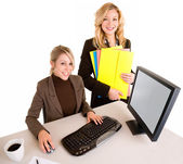 Two Beautiful Smiling Businesswomen — Stock Photo