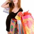 Young Womon Shopping Spree — Stock Photo #2400063