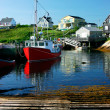 Fishing Village Under a Blue Sky — Stock Photo