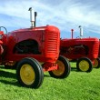 Several Old Tractors — Stock Photo