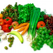 Stock Photo: Vegetables and Fruits Arrangement