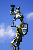 Freestyle Motorcycle Jumping — Stock Photo