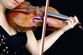 Playing the Violin — Stock Photo