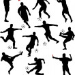 Royalty-Free Stock : Soccer players collection