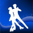 Royalty-Free Stock Vectorafbeeldingen: Ice skating - vector