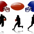 Royalty-Free Stock Vector Image: American football silhouettes