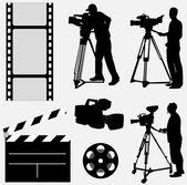 Collection de caméra — Vecteur
