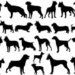 Royalty-Free Stock Vectorafbeeldingen: Dogs silhouettes