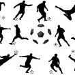 Royalty-Free Stock Vector Image: Soccer players collection