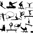 Royalty-Free Stock Vector Image: Gymnastics silhouettes collection