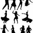 Dancing silhouettes — Stock Vector #1983733