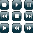 Royalty-Free Stock Vector Image: Audio-video control buttons